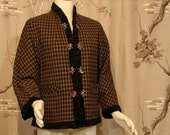 Reversible Wool and Faux Fur Jacket Circa 1950's