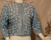 Cardigan - Hand Sequined - INCREDIBLE - Circa 1950's