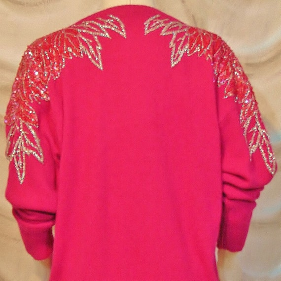 Sweater - Hand Beaded - Attention Grabbing 1980's