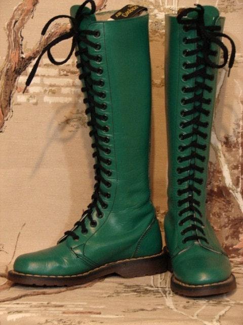 Reserved For Blakely 1980 S Green Doc Marten Knee High