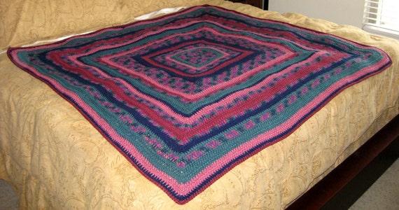 Jewels of India Crochet Blanket