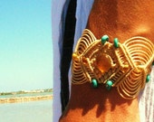 ibiza sunrise macrame bracelet with amber