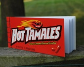 Hot Tamales Candy Box Recycled Upcycled Notebook