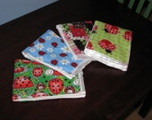 Little Lovebug Burp Cloth Set ... Stylish, Affordable, Multi-Purpose ... Ready To Ship