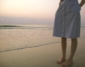 From dusk till dawn misted gray vintage skirt