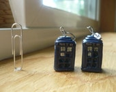 Tardis Earrings (only one pair left)