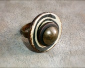 Antique Gold Swirl Ring