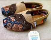 Custom Burlap Toms For KATRINA