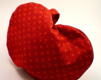 Heart Shaped Bag in Red