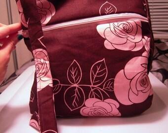 Brown & Pink Cross Body Bag