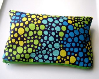 Blue Bubbles Zippered Pouch