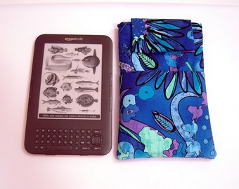 Blue and Purple Kindle Sleeve