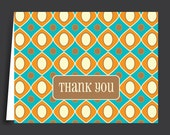 Retro Pattern Thank You Note