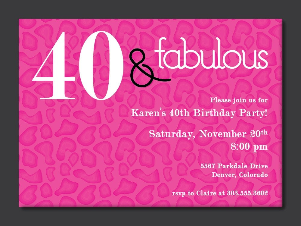 40 Birthday Invitations and get inspiration to create nice invitation ideas