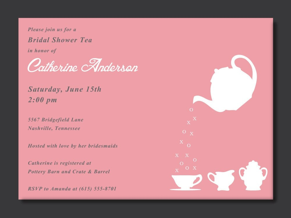 Wedding Shower Invitation Sayings: Chandeliers & Pendant Lights