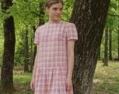 Rainbow Sherbert / Vintage Handmade 1920's Dress (RESERVED for butterfly1961)