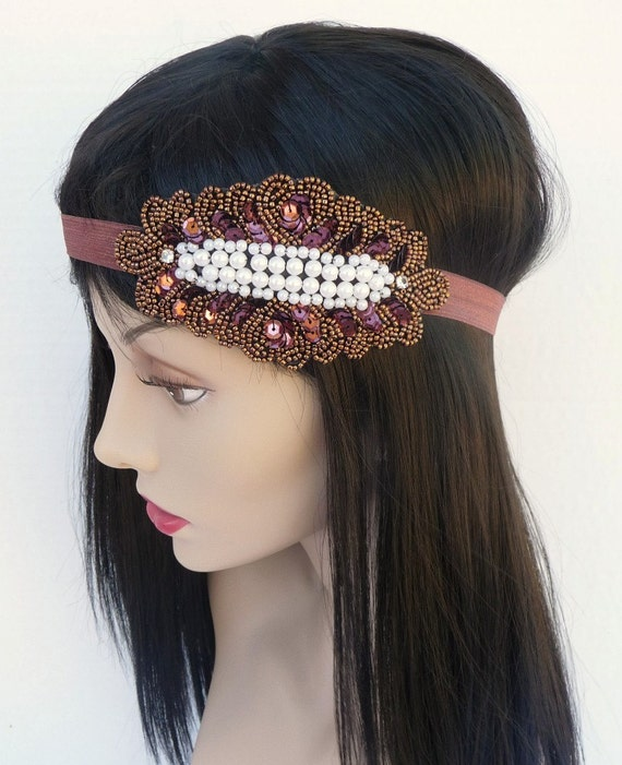 Items similar to Copper Sequin Headband or Belt - Halo ... Quailman Belt Headband
