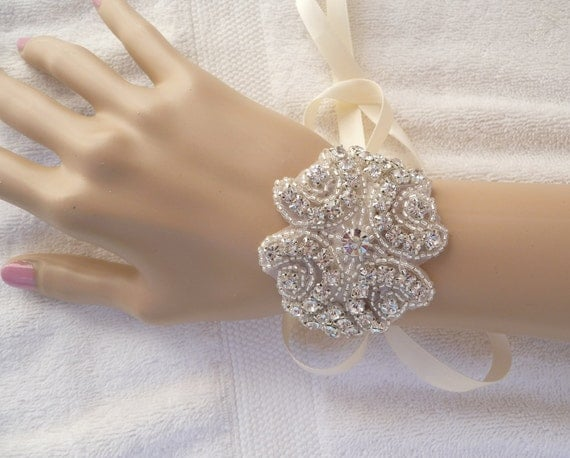 Bridal Rhinestone Bracelet, LIA, Bride, Wedding, Bracelet, Jewelry, Bridesmaid