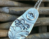 Rushin' Doll / Babushka - Fine Silver Pendant with Sterling Silver Chain