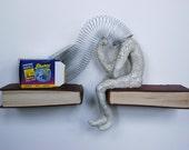 Thinking Slinky Head on Claybord (Original Sculpture)