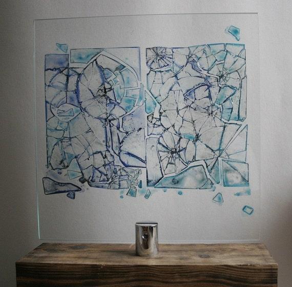 Broken glass art 168 original for Broken mirror art