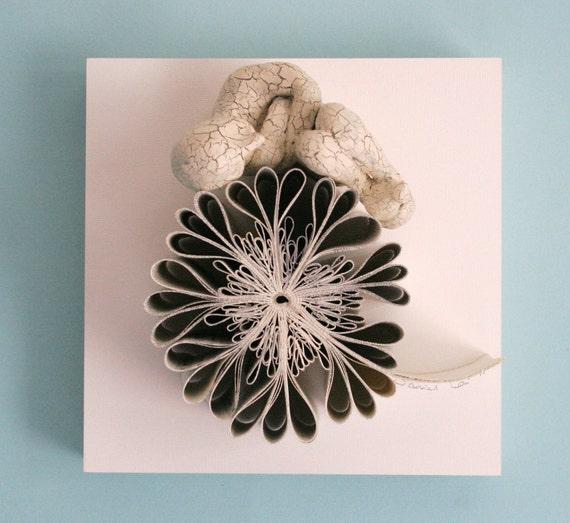 Sleeper on Falling Flower (Original Sculpture)