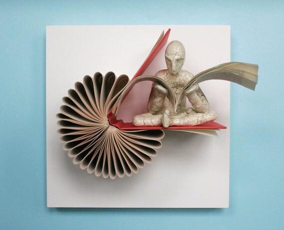 Reader on Birdie (Original Sculpture)