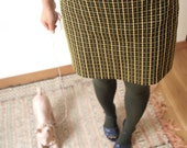 Ozoc olive and brown color skirt