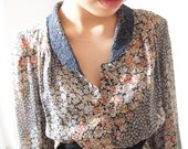Vintage spring flower dress, small - medium, Japanese