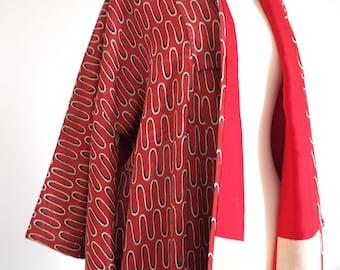 Vintage japanese copper red kimono