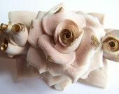 Vintage Bisque Rose Figurine
