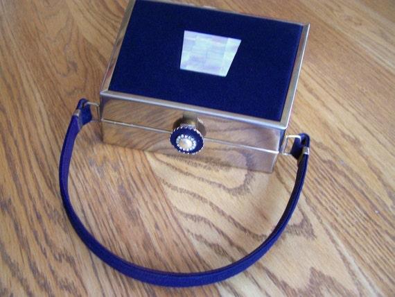 Rare Vintage Tyrolean N.Y. MOP Brass Box Handbag