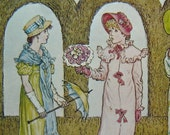 Vintage Kate Greenaway Illustration Postcard, St. Valentines Day