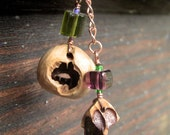 Dangle Squirrel Chewed Nut Earrings