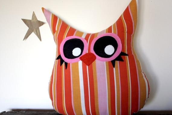 SALE, owl pillow plush, handmade owl, owl decor, nursery decor,- stuffed animal