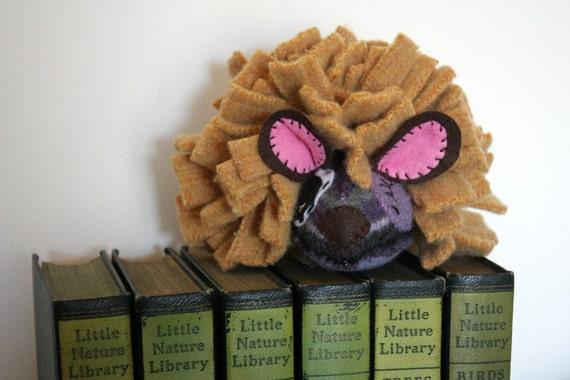 hedgehog plush stuffed animal, handmade, upcycled, eco friendly