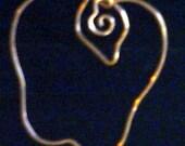 Copper Apple Ornament Pendant
