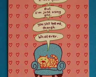 Cat Valentine Note Card.