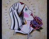 RESERVED* Traditional Nurse Original Painting