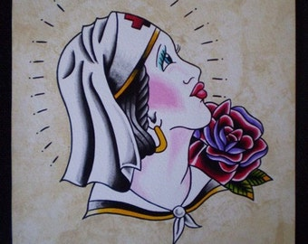 Traditional Nurse Original Painting