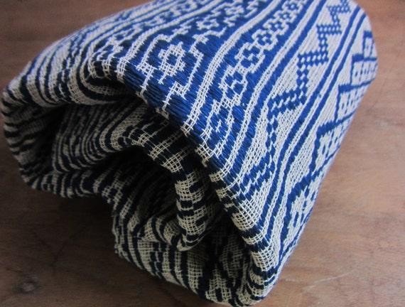 Hill Tribe Indigo Rug or Picnic Blanket