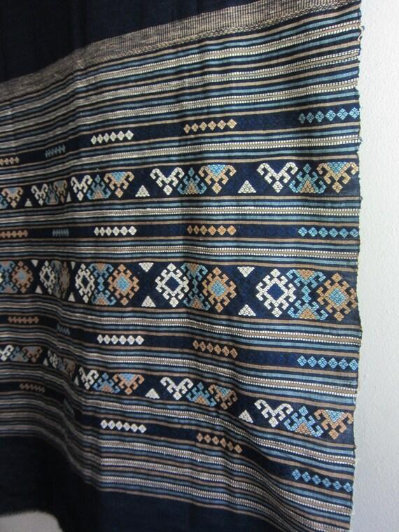 Indigo Embroidery Fabric / Wall Art