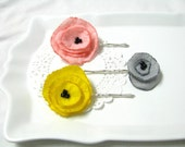 april showers bring poppy flower hair charms.