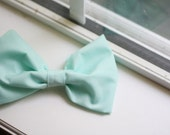 mints at the candy store - large mint green bow.