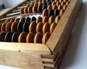 Wooden abacus from 60s