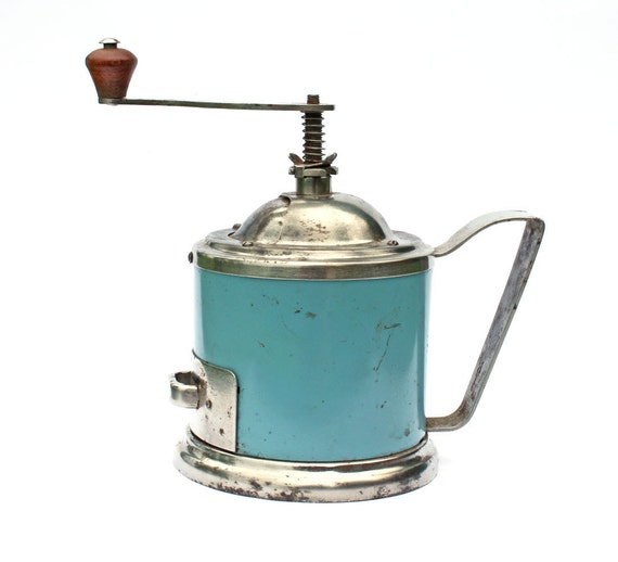 Coffee Grinder made in Russia Soviet Union USSR blue color