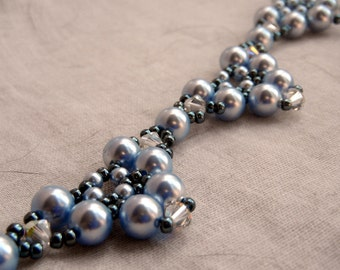 Baby Blue Pearl Necklace