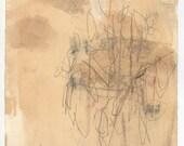 original Brooklyn Botanic Garden drawing (mixed media on paper)