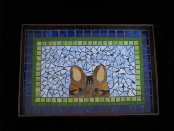 Cat serving tray. RESERVED FOR KIMBERLEE