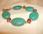 Turquoise and Copper Bracelet